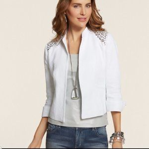 Chico's Quilted Jeweled Jacket